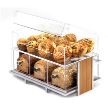 Cal-Mil 1479 Eco Modern Three Drawer Acrylic Bread Box for 1471 Merchandiser and 1478 Bin