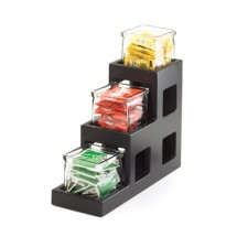 "Cal-Mil 1486-96 Midnight Three Tier Jar Display 5"" x 14"" x 13"""