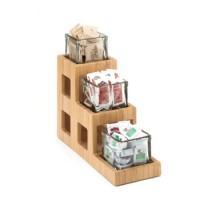 "Cal-Mil 1486 Three Tier Bamboo Jar Display 5"" x 14"" x 13"""