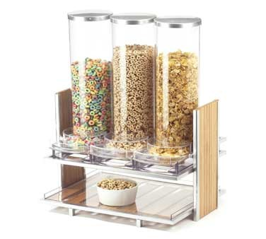 Cal-Mil 1499 Eco Modern Cereal Dispenser with 3 Bins 2.7 L