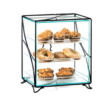 "Cal-Mil 1501-13 Glacier Three Tier Acrylic Display Case with Wire Frame 16"" x 12"" x 19"""