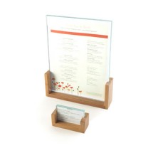 Cal-Mil 1510-32-60 Bamboo Base Menu / Card Holder, 3 1/2