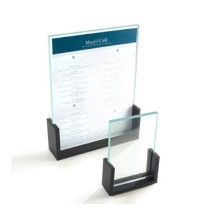 Cal-Mil 1510-32 U-Frame Acrylic Menu / Card Holder, 3-1/2
