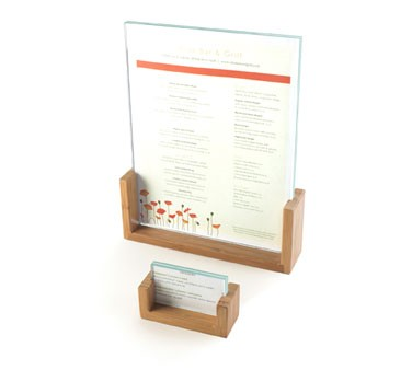"Cal-Mil 1510-411-60 Bamboo Base Displayette with Acrylic Insert 4"" x 1-1/2"" x 12"""