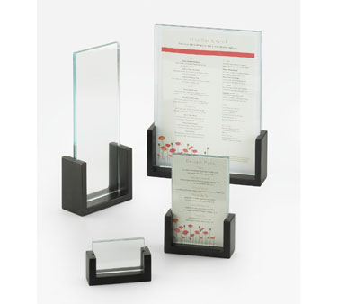 "Cal-Mil 1510-811-96  U-Frame  Midnight Menu Card Holder, 8-1/2"" x 11"""