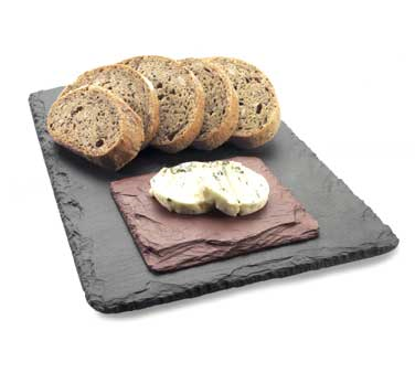 Cal-Mil 1522-518-65 Black Slate Serving / Display Stone, 18