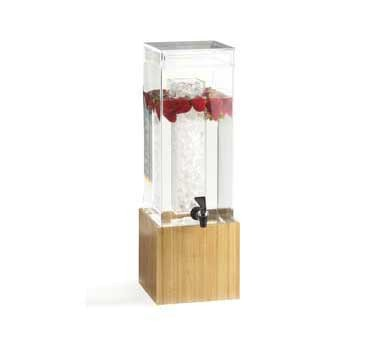 Cal-Mil 1527-1-60 Bamboo Acrylic Beverage Dispenser with Ice Chamber 1.5 Gallon