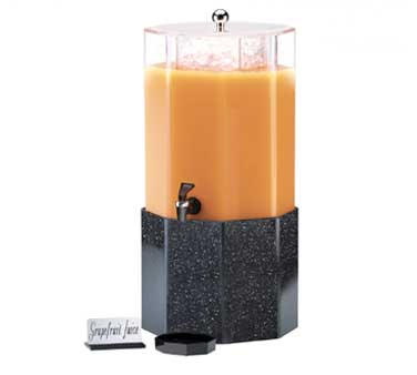 Cal-Mil 153-2-16 2 Gallon Classic Octagon Beverage Dispenser With Gray Granite Base