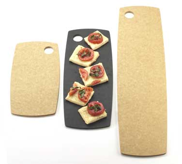 Cal-Mil 1531-612-14 Natural Rounded Edge Flat Bread Serving Board, 12