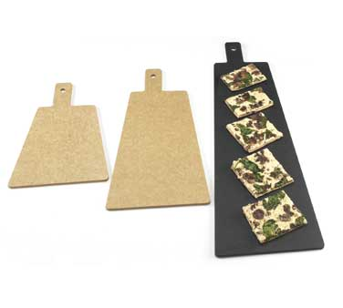 Cal-Mil 1535-12-13 Black Flat Bread Serving / Display Board, 12