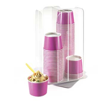 Cal-Mil 1539-12 Acrylic Revolving Cup / Cereal Organizer