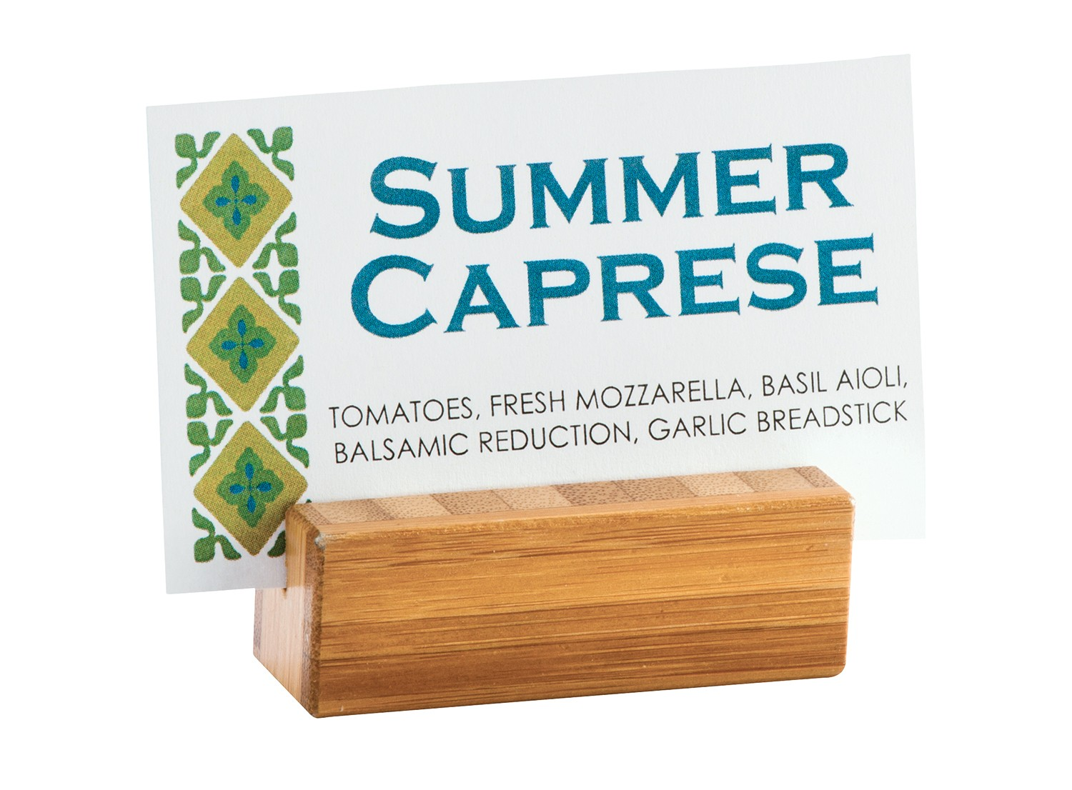 Cal-Mil 1543-60 Bamboo Card Holder Base, 2-1/4