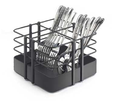 Cal-Mil 1545-13 Black Soho Four Slot Flatware Organizer, 7-1/2