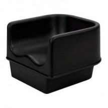 "Cambro 100BC1110 Black No-strap 11 5/8"" Single Height Booster Seat"