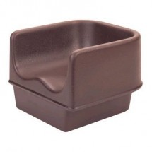 Cambro 100BC1131 Dark Brown Single Height Booster Seat  11 5/8""