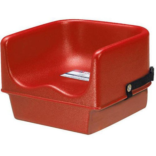 "Cambro 100BC1158 Hot Red No-strap 11 5/8"" Single Height Booster Seat"