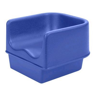 "Cambro 100BC1186 Navy Blue No-strap 11 5/8"" Single Height Booster Seat"