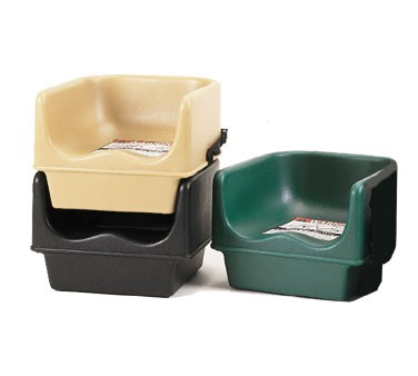 "Cambro 100BCS110 Black 11 5/8"" Single Height Booster Seat with Strap - 4 pcs"