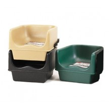 "Cambro 100BCS519 Green 11 5/8"" Single Height Booster Seat with Strap - 4 pcs"