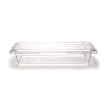 "Cambro 12183CW135 Camwear 12"" x 18"" x 3.5"" Clear Food Storage Box - 1/2 doz"