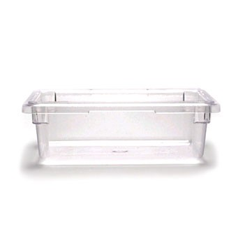 "Cambro 12186CW135 Camwear Clear Food Storage Box 12"" x 18"" x 6"" - 1/2 doz"