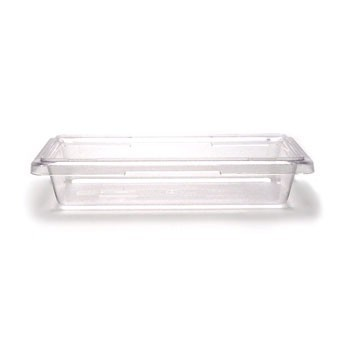 "Cambro 12183CW135 Camwear Clear Food Storage Box 12"" x 18"" x 3.5"" - 1/2 doz"