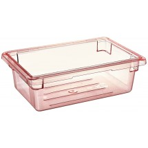 "Cambro 12186CW467 Camwear Red Food Storage Box 12"" x 18"" x 6"" - 1/2 doz"