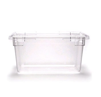 "Cambro 12189CW135 Camwear 12"" x 18"" x 9"" Clear Food Storage Box - 1/2 doz"
