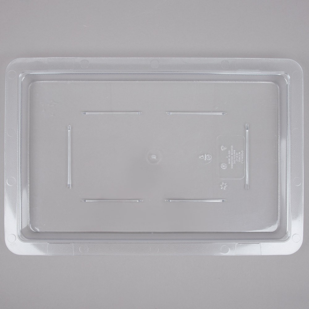 "Cambro 1218CCW135 Camwear 12"" x 18"" Clear Food Storage Cover - 1/2 doz"
