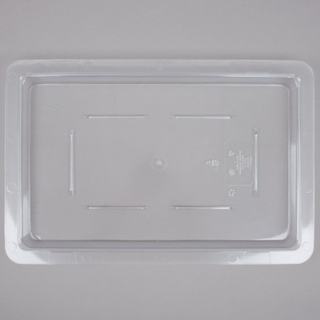 "Cambro 1218CCW135 Camwear Clear Food Storage Box Flat Lid 12"" x 18"" - 1/2 doz"