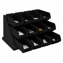 "Cambro 12RS12110 25-1/8"" Black Organizer Rack"