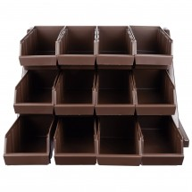 Cambro 12RS12131 Versa Dark Brown Organizer Rack 25-1/8""