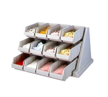 """Cambro 12RS12480 25-1/8"""" Speckled Gray Organizer Rack"""