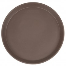 "Cambro 1400CT138 Camtread Tavern Tan Round Non-Skid Serving Tray 14""  - 1 doz"