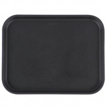 Cambro 1418CT110 Camtread Black Non-Skid Serving Tray 14