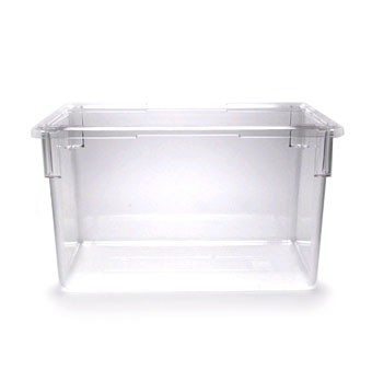 "Cambro 182615CW135 Camwear 18"" x 26"" x 15"" Clear Food Storage Box - 3 pcs"