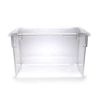 "Cambro 182615CW135 Camwear Clear Food Storage Box  18"" x 26"" x 15""  - 3 pcs"