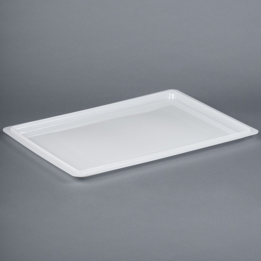 "Cambro 1826CP148 White Poly Flat Lid for Food Storage Box 18"" x 26"" - 1/2 doz"