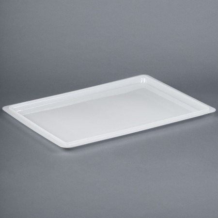"""Cambro 1826CP148 White Poly Flat Lid for Food Storage Box 18"""" x 26"""" - 1/2 doz"""