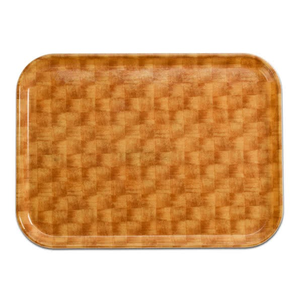 "Cambro 46302 Camtray Light Basket Weave Rectangular High-impact Fiberglass 4"" x 6"" Serving Tray - 1 doz"