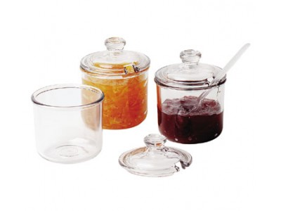 Cambro CJ80CW135 8 oz.Condiment Jar with Cover - 24 pcs