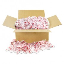 Office Snax Candy Tubs, Peppermint Puffs, Individually Wrapped, 10 lb Value Size Box