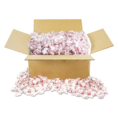 Office Snax Candy Tubs, Starlight Peppermints, Individually Wrapped, 10 lb Value Size Box