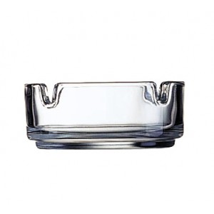 "Cardinal 51257 Arcoroc Clear Stacking Ashtray 3-1/4"" - 2 doz"