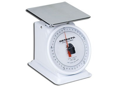 Cardinal Detecto PT1 Petite Top Loading Fixed Dial Scale 16 oz.