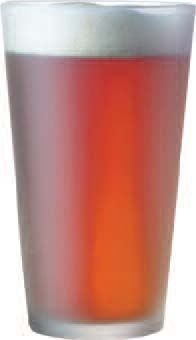 Cardinal EVF1022 Arcoroc Everfrost Frosted Pub Glass 16 oz. - 2 doz