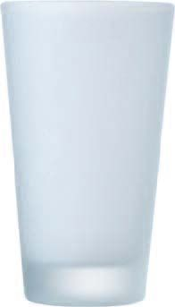 Cardinal EVF1023 Arcoroc Everfrost Frosted Heavy Sham Pub Glass 14 oz. - 2 doz