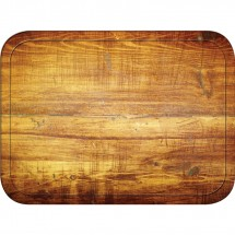 Carlisle 1814WFG094 Glasteel Wood Grain Redwood Rectangular Tray 18