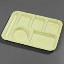 Carlisle 43980 Left Hand 6 Compartment Heavy Duty Melamine Tray - 1 doz