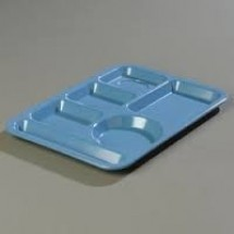 Carlisle 43981 Left Hand 6 Compartment Melamine Tray - 1 doz